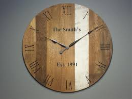 personalized clocks with pictures rustic wall clocks yankee woodworks