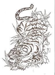japanese style tiger design stuff tiger