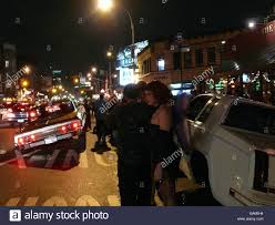 usa new york city halloween street scene cars people evening