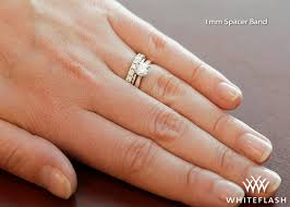 1mm wedding band spacer bands whiteflash