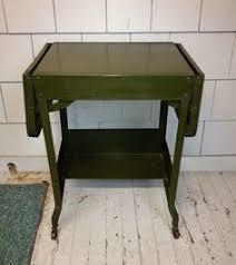 Small Tanker Desk Vintage Metal Co Tanker Desk Work Bench Table Small Mid