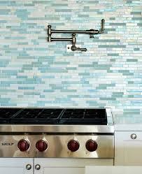 Kitchen Backsplash Glass Tile by Sea Glass Tile Kitchen Backsplash Tiles In Shades Of Blue And