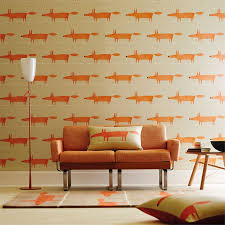 wallpaper interior design scion mr fox wallpaper
