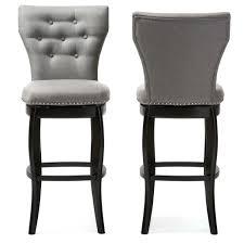 Leather Swivel Bar Stool Bar Stools Baxton Studio Leonice Modern And Contemporary Grey