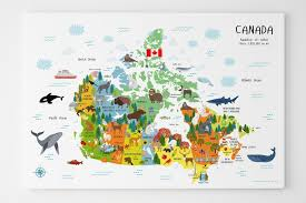map if canada canada map map of canada for canvas nursery decor