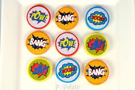 comic superhero cookies popolate