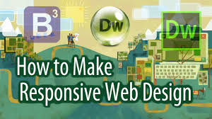 web design lernen how to make a responsive web design with bootstrap and dreamweaver