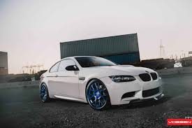 customized bmw 3 series eye catching custom painted forged wheels on customized white bmw