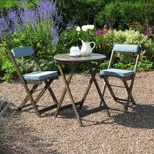 Grey Bistro Table Gablemere Raffles Bistro Set With Grey Cushions Gardener