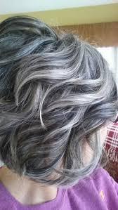 how to grow in gray hair with highlights makeover gray blending asymmetrical bob hair color bob hair
