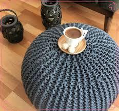 Crochet Ottoman 2017 New Baby Stuffed Crochet Pouf Poof Ottoman Footstool Home