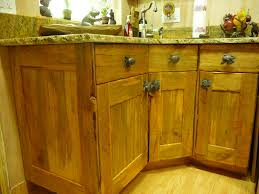 plain rustic cabinets in design