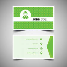 green geometrical business card template free vectors ui download