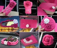 pink car interior buy wholesale princess style flower leather car interior