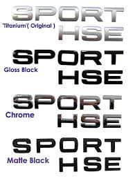 land rover logo vector gloss black sport letters for range rover supercharged hst