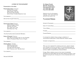 catholic church wedding program doc 600730 catholic funeral program sle catholic funeral