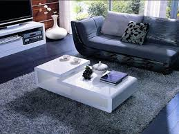 5011c modern white lacquer rectangular coffee table empire