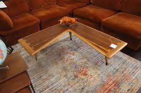 Boomerang Coffee Table Tables Desks Vintage Repurposed