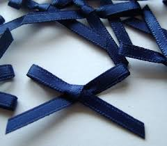 navy blue satin ribbon 100 navy blue satin handtied bow 3mm ribbon