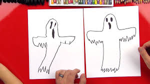 how to draw a ghost art for kids hub