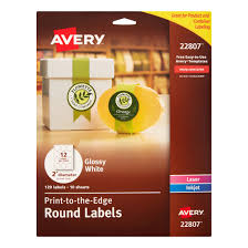 Avery Template 30 Labels Per Sheet Avery Print To The Edge Labels 2 In Diameter White 120