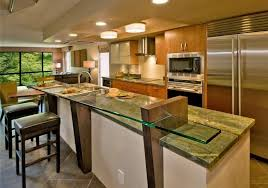 kitchen island with bar top modern kitchen bar concept with glass kitchen island bar top