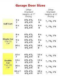 garage door car garage door dimensions desembola standard size