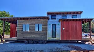 tiny house on wheels luxury classic mountain cabin look modern