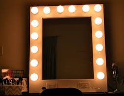Stand Alone Vanity Makeup Mirror With Light Bulbs Uk Home Vanity Decoration