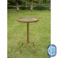 Outdoor Bistro Table Bar Height International Caravan Resin Wicker Bar Height Outdoor Bistro Table