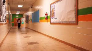 hallway teacher walking down hallway stock video footage videoblocks