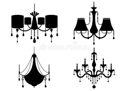 Flat Chandelier Set Of Silhouette Vintage And Luxury Chandelier Flat Icon Vector