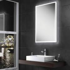 hib globe led illuminated steam free mirror 500 x 700mm 600 x