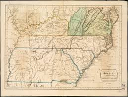 Kentucky Tennessee Map by Map Of The Southern States Of America Comprehending Maryland