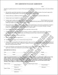 Commercial Lease Termination Agreement Use A Pet Agreement Addendum To Add A Pet To Your Tenant U0027s Lease