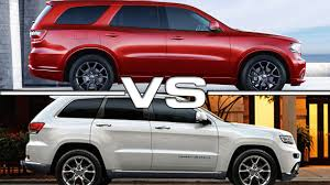 jeep grand or dodge durango 2016 dodge durango vs 2016 jeep grand