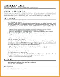 resume summary statements sles resume summary for retail