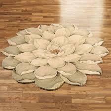 Rug For Bathroom Floor Melanie Magnolia Flower Rug