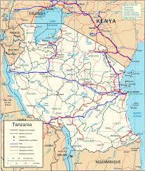 Map Of Tanzania Road Map Of Tanzania Tanzania Transport Map Tanzania