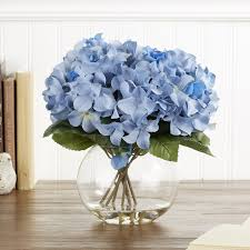 flower hydrangea birch faux blue hydrangea bloom reviews wayfair
