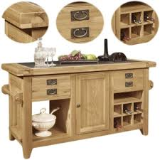 kitchen island ebay panama solid oak furniture large freestanding granite top kitchen