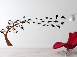 wandtattoo baum vögel bäumchen mit vogelkäfig wandtattoo