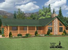 ranch log home floor plans golden eagle log and timber homes floor plan details countryside ii