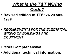 introduction to t u0026t electrical wiring code tts 171 part 1 ppt