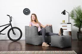 Big Joe Lumin Chair Sapphire by Amazon Com Big Joe Lux Cube U0026 Ottoman In Union Gray Kitchen