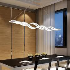 modern hanging lights for dining room l100cm new creative modern led pendant lights wave hanging l