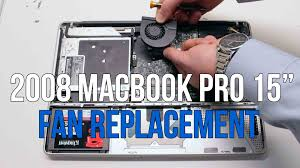 macbook pro late 2008 fan 2008 macbook pro 15 a1286 left and right fan replacement youtube