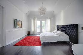 Red Rugs For Bedroom Modern Master Bedroom With Crown Molding U0026 Chandelier Zillow
