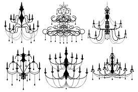 Black Chandelier Clip Art Chandelier Vectors And Clipart Illustrations Creative Market