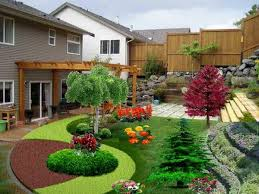 backyard landscaping ideas simple small easy landscape and plants